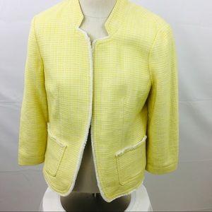 Loft woman's yellow size medium blazer. Open front